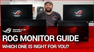 Pro Gaming Series ROG Monitor Guide