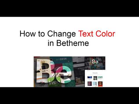 How To Change Text Color In Betheme