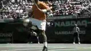 Marcelo Rios - Andre Agassi Miami 2002 (set 1)