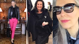Vlog: Black Leather Jacket, Pink Jeans; Winterwear Trunk Show / Classic Style, Fashion Over 40, 50