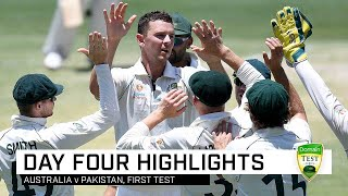 Hazlewood leads way as Aussies wrap up innings win | First Domain Test