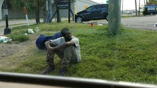 This Homeless Man Sat On The Same Corner For 3 Years  Then A Woman Pulled Up To Investigate