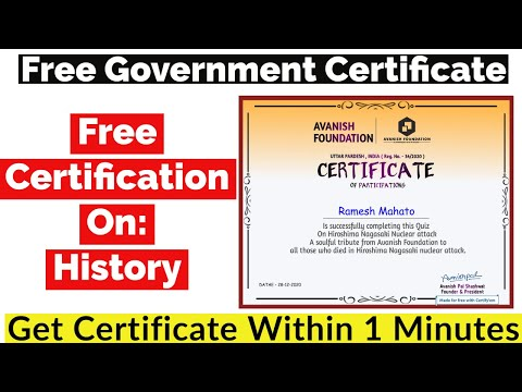 Free Government Certificate   Free Certificate Course Online
