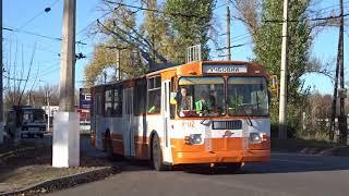 Учебная езда на учебном троллейбусе ЗиУ-682ГН Training trolleybus