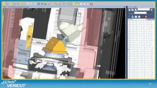 VERICUT Machine Tool CNC Simulation Summary
