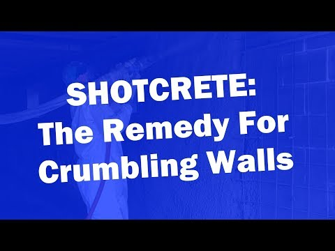Shotcrete is the method of spraying concrete onto crumbling and deteriorating walls. The high velocity of the spray both places the concrete and compacts it at the same time, making it incredibly strong. It's a great solution for all sorts of surfaces and shapes. Click HERE to request a free inspection and estimate.
