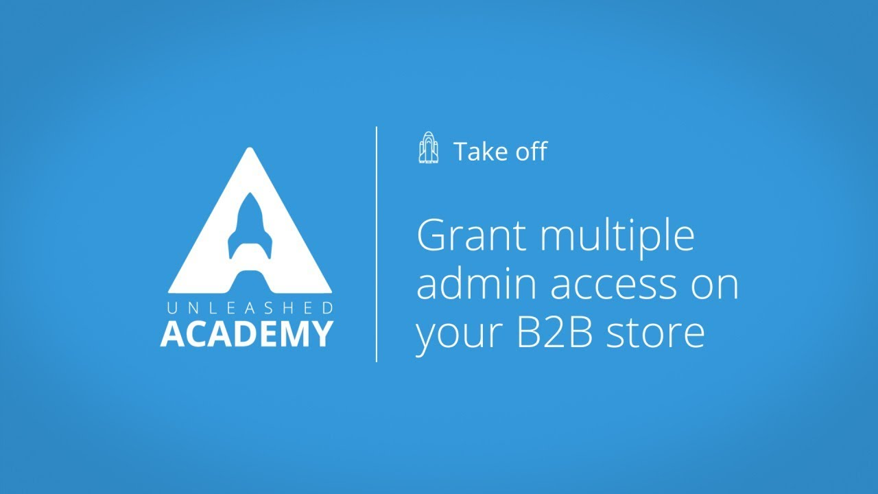 Grant multiple admin access on your B2B store YouTube thumbnail image
