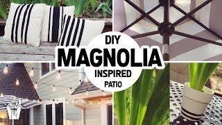 DIY FIXER UPPER MAGNOLIA INSPIRED PATIO MAKEOVER!