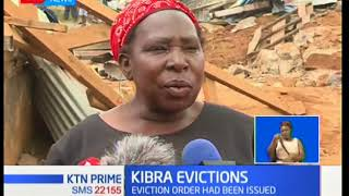 Kibera residents express their displeasure over demolitions