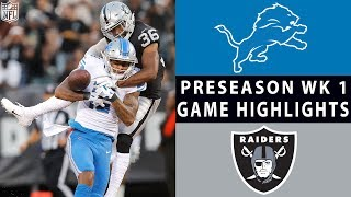 Lions vs. Raiders Highlights | NFL 2018 Preseason Week 1