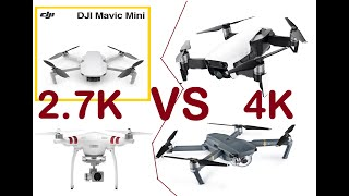 4K vs 2.7K Video Comparison using DJI Mavic and Phantom| Whats Difference when uploaded in Youtube?
