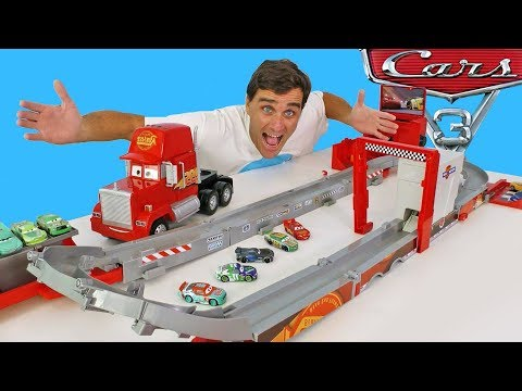 Cars Super Track Mack Transforming Truck & Racetrack  ! || Disney Toy Review || Konas2002
