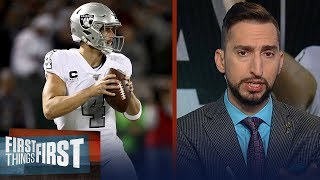 Derek Carr is playing the best football in last 4 years for the Raiders | NFL | FIRST THINGS FIRST