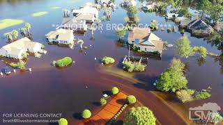 9-23-2018 Longs, SC Historic Flooding with hundreds of homes under water Waccamaw River crest drone