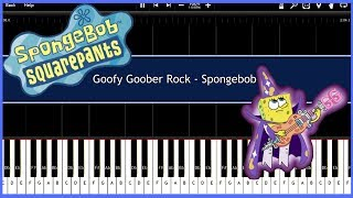 Goofy Goober Rock - Spongebob (Synthesia) [Tutorial] [Instrumental Video] [Download]