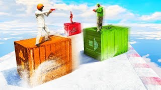 SKATING ON CONTAINERS! (GTA 5 Minigames)