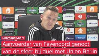 Toornstra tempert euforie na Feyenoord-Union Berlin: 'Moeten beseffen dat we er nog niet zijn'