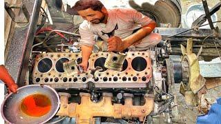 Nissan engine repair on top of a truck    Diesel engine rebuild    technology #1