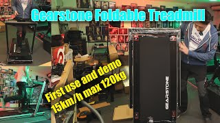 GEARSTONE Foldable Treadmill first use and demo by Benson Chik