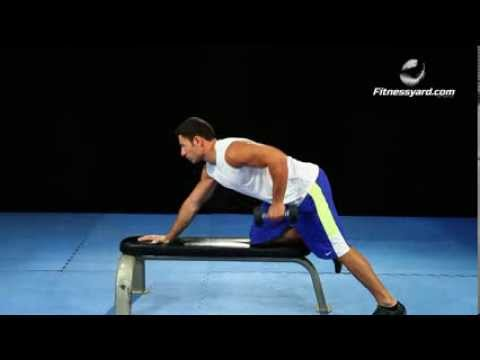 Back Exercises -- One Arm Dumbbell Rows