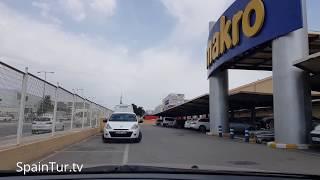 По Аликанте на машине, едем в магазин Macro, цены на вино, водку и технику, снимал Сергей Езовский