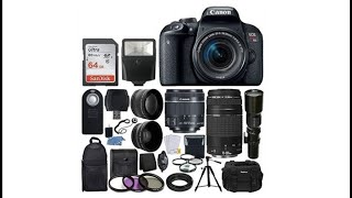 UNBOXING CANON REBEL T7i BUNDLE PACKAGE