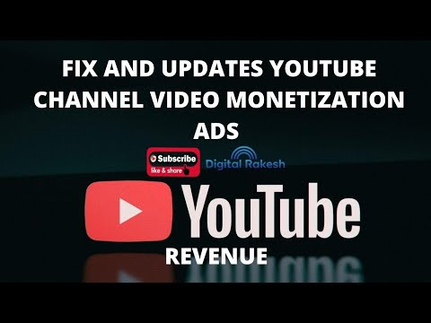youtube channel video monetization ads and revenue