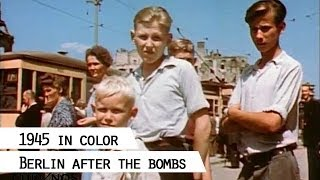 Berlin 1945, color film footage showing life in the destroyed city (SFP 186)