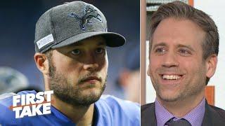 Max Kellerman wants Matthew Stafford to replace Tom Brady on the Patriots | First Take