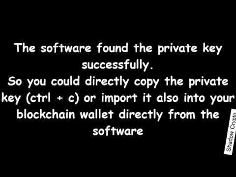 Blockchain Private Key Finder Developer Edition 2019 | Bitcoin