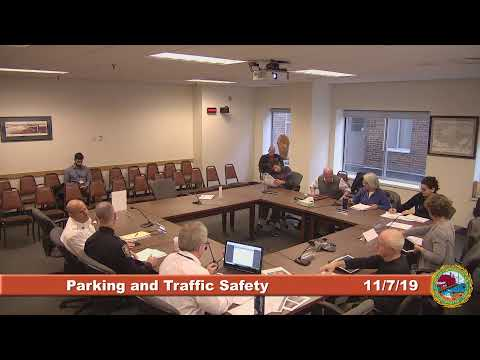 Parking and Traffic Safety Committee Meeting 11.7.19