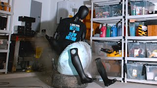 What Happens if you Sit on an Airbag? - The Slow Mo Guys
