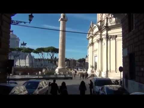 Колонна Траяна в Риме.