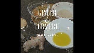 Ginger And Turmeric Foot Scrub