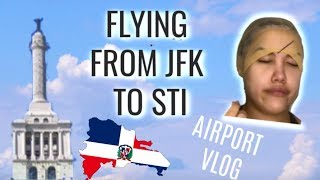 FLYING TO DOMINICAN REPUBLIC | AIRPORT VLOG, WIG TUTORIAL