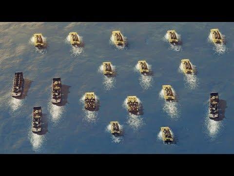 US Marine Beach Landing Under Heavy Fire, Saipan Invasion 1944 | Sudden Strike 4 The Pacific War DLC