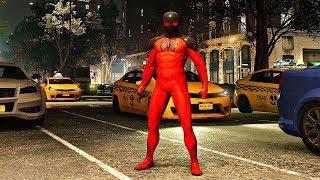 Spider-Man PS4 - Scarlet Spider 2 Suit Gameplay (The Heist DLC)