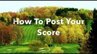 How To Post Your Score
