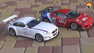 BMW Z4 M COUPE and Ferrari F430 GT радиоуправляемые машины