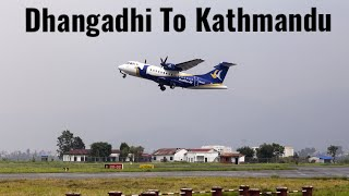 preview picture of video 'Take off from Dhangadhi with Buddha Air ATR72-500'