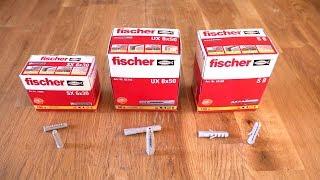 Fischer Dübel in unterschiedlichen Varianten
