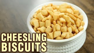 Cheesling Biscuits Recipe - How To Make Cheeslings At Home - Indian Culinary League - Varun | Kholo.pk