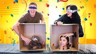 WHAT'S IN THE BOX CHALLENGE!! (MOM MEETS GIRLFRIEND EDITION)