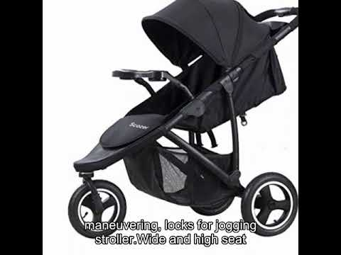 Scozer Stroller with Dining Plate and Cup Holder Big Storage Basket, 3.0 Tricycle Stroller