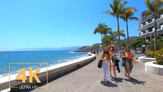 Puerto Vallarta, Jalisco | Mexico 🇲🇽 | Virtual Walking | 4K | City Tour | Beach | 2021 Street Walk