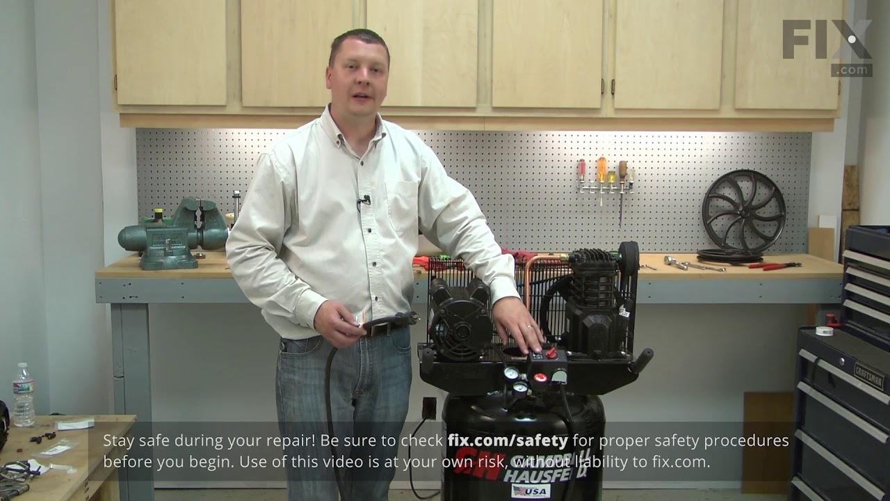 Replacing your Campbell Hausfeld Compressor Unloader