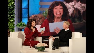 Sandra Oh Drools Over a Game of 'Speak Out'