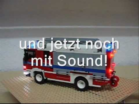HLF der Feuerwehr Augsburg mit Licht und Sound aus LEGO