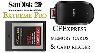 SanDisk Extreme Pro CFExpress Memory Cards & Card Reader