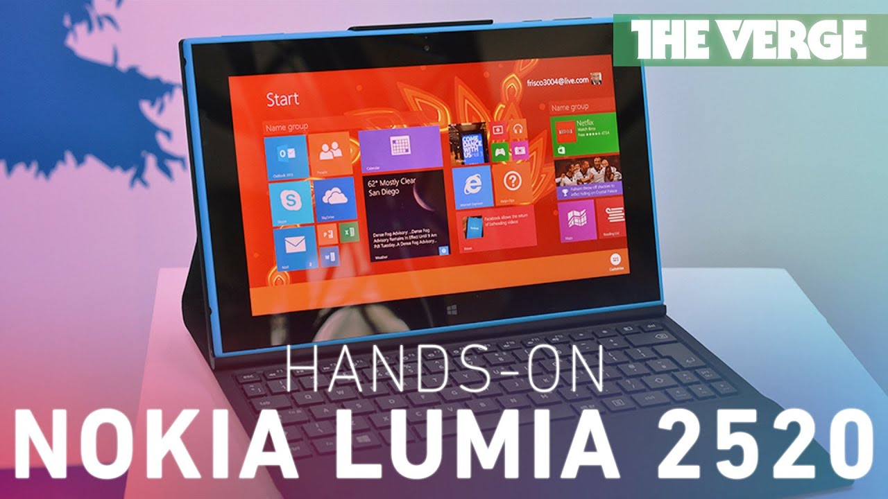 Nokia Lumia 2520 tablet hands-on preview thumbnail